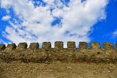 Wand an Akkerman-Festung Stockbild