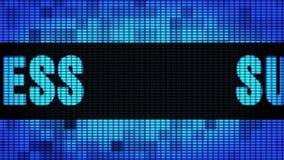 Wand-Anzeigetafel-Zeichen-Brett Erfolgs-Front Text Scrollings LED stock footage