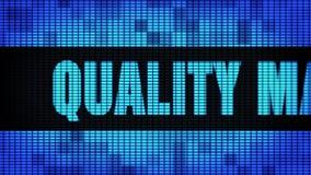 Wand-Anzeigetafel-Zeichen-Brett Qualitätssicherungs-Front Text Scrollings LED stock video footage