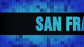 Wand-Anzeigetafel-Zeichen-Brett SANS FRANCISCO Front Text Scrolling LED stock video
