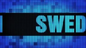 Wand-Anzeigetafel-Zeichen-Brett SCHWEDENS Front Text Scrolling LED stock footage