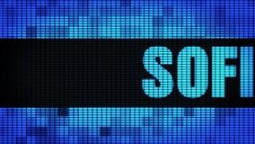 Wand-Anzeigetafel-Zeichen-Brett SOFIA Front Text Scrollings LED stock video
