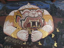 Wand Art Thailand Culture Stockfotografie
