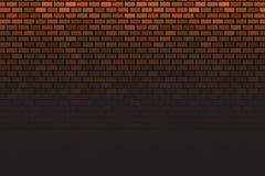Wand auf braunem Hintergrund Schwarze Ziegelsteinwand lizenzfreie abbildung