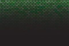 Wand auf dunklem Hintergrund Moderner Innenraum Stonewalls stock abbildung