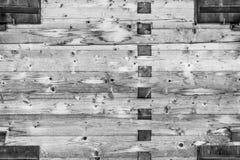Wand-Beschaffenheitshintergrund des Bauholzes hölzerner Traditioneller Aufbau einfarbig Stockbild