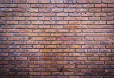 Wand-Beschaffenheitsschmutzhintergrund des roten Backsteins Stockfotografie