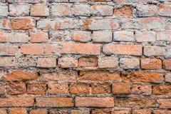 Wand-Beschaffenheitsschmutzhintergrund des roten Backsteins Stockfotos