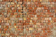 Wand-Beschaffenheitsschmutzhintergrund des roten Backsteins mit vignetted Ecken, verwendet möglicherweise zur Innenarchitektur Lizenzfreies Stockfoto