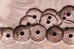 Wand Beton-Beschaffenheit oder Hintergrund abstrakter Beton-Hintergrund horizontal Stockfotos