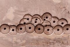 Wand Beton-Beschaffenheit oder Hintergrund abstrakter Beton-Hintergrund horizontal Lizenzfreies Stockfoto