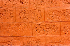 Wand blockiert Orange Lizenzfreie Stockbilder