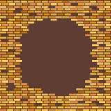 Wand, Braun, Ziegelstein - mit Platz für Textvektorillustration stock abbildung