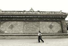 Wand Carvings, Sichuan, China Lizenzfreies Stockbild