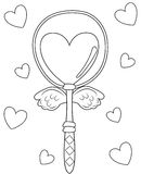 Wand coloring page royalty free illustration