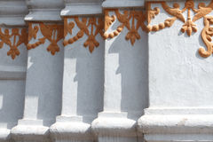 Wand-Dekor bei Swayambhunath in Nepal Lizenzfreie Stockfotos
