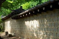 Wand in Deoksugungs-Palast in Seoul Stockfoto