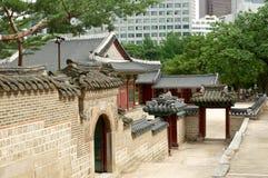 Wand in Deoksugungs-Palast in Seoul Lizenzfreie Stockfotografie
