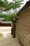 Wand in Deoksugungs-Palast in Seoul Lizenzfreies Stockbild
