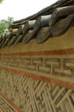 Wand in Deoksugungs-Palast in Seoul Lizenzfreie Stockfotos