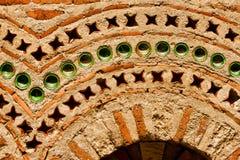 Wand der alten christlichen Kirche Stockfotografie