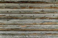 Wand der alten hölzernen Kabine Lizenzfreie Stockfotografie