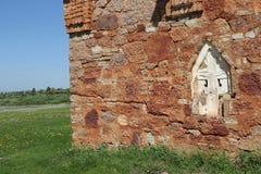 Wand der alten Kirche Stockfotografie