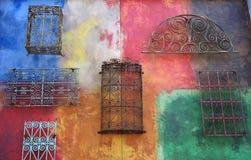 Wand der Farbe Stockbild