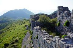 Wand der Festung stockfotos