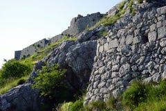 Wand der Festung stockbild