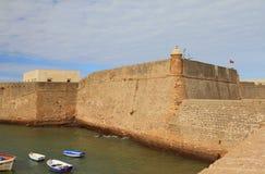 Wand der Festung Cadiz, Spanien Stockfoto