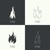 Wand der Flammen ikone Lizenzfreies Stockfoto