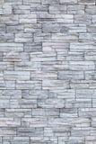Wand der grauen Ziegelsteine Lizenzfreies Stockbild