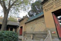 Wand der großen Moschee Xian-huajue Wegs, luftgetrockneter Ziegelstein rgb Lizenzfreie Stockfotografie
