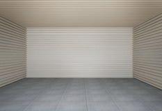 Wand der hölzernen Latten stock abbildung