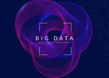Wand der hölzernen Latten Technologie für große Daten, künstlich herein vektor abbildung