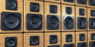 Wand der Lautsprecher Stockbild