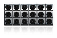 Wand der Lautsprecher Lizenzfreie Stockfotos