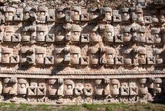 Wand der Maske von Chaac Stockbild