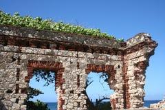 Wand der puertorikanischen Ruine Lizenzfreies Stockfoto