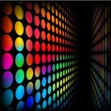Wand der Regenbogenpunkte Stockbild
