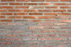 Wand der roten Ziegelsteine Lizenzfreie Stockfotografie