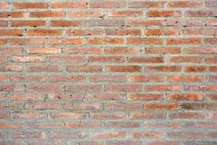 Wand der roten Ziegelsteine Lizenzfreie Stockbilder