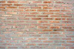 Wand der roten Ziegelsteine Stockbilder