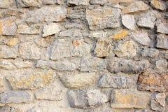 Wand der Steine und des Klebers Stockfotografie