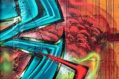 Wand der Straßen-Art Bunte Graffiti auf der Wand Lizenzfreie Stockbilder