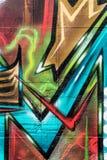 Wand der Straßen-Art Bunte Graffiti auf der Wand Lizenzfreie Stockfotos