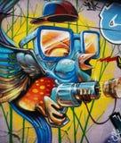 Wand der Stra?en-Art Montreuil Kunst ist ?berall stockbild