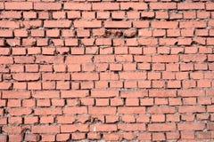 Wand der Vorderansichtnahaufnahme der roten Backsteine Lizenzfreies Stockbild