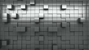 Wand der Wiedergabe 3d von verdrängten Würfeln stock video footage